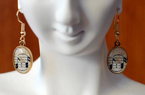 Sheet Music Earrings