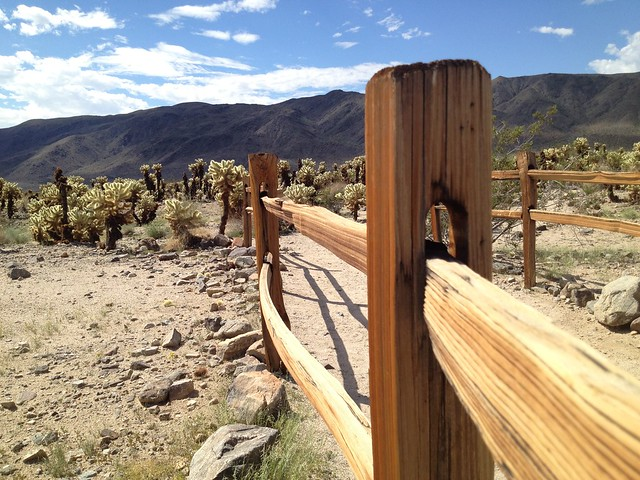 Wooden fence, Joshua Tree National Park