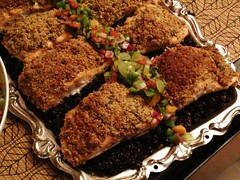 Almond Crusted Chilean Salmon
