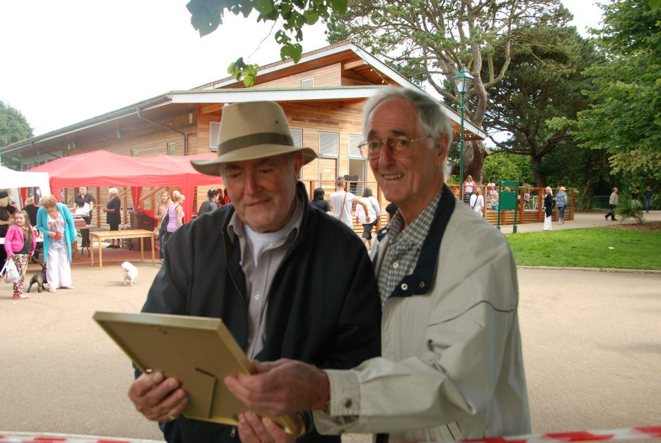 Ted and Don at Pride in the Park 2013 admiring the archive award.