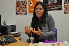 Toñi Nogales, durante la entrevista