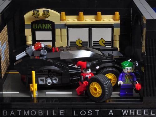 Batmobile lost a wheel...