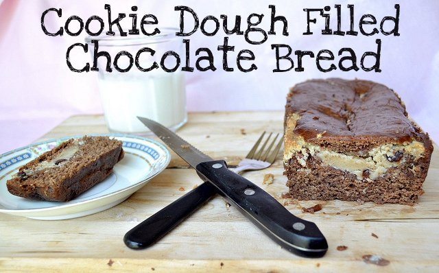 cookie dough filled chocolate bread