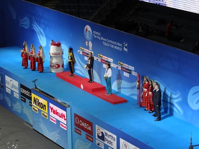 CC photo #628: Women's 50 breast podium at Istanbul 2012
