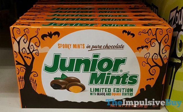 Limited Edition Junior Mints with Black and Orange Centers