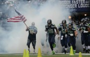 Leading the Seahawks out of the tunnel