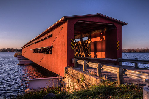 Langley Covered Bridge, Centreville, Michigan