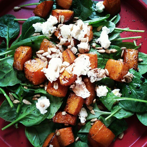 Butternut squash & goat cheese. Salad #2 for today!