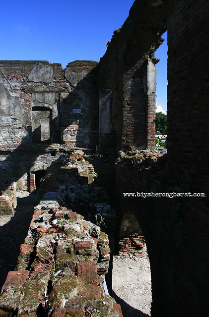 Walls of the Old Convent Ruins in Paoay Church Ilocos Norte
