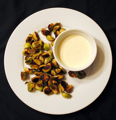 Crispy Brussel Sprouts with Garlic Aioli