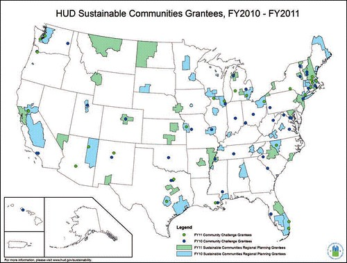 HUD's sustainable communities grantees (courtesy of HUD)