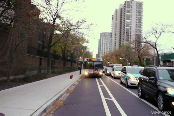 Clark Street buffered bike lane