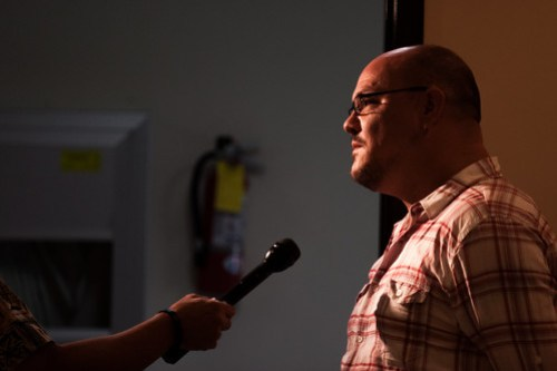 Honolulu C.C. student President Kaleo Gagne interviewed by Hawaii News Now's Ben Gutierrez