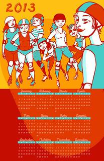 Rollerderby 2013 Calendar