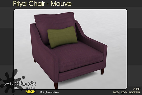 mudhoney priya side chair mauve