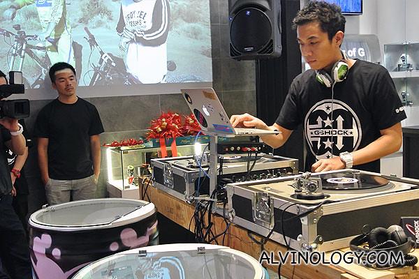 DJ Andrew T spinning