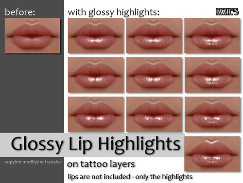 Glossy Lip Highlights