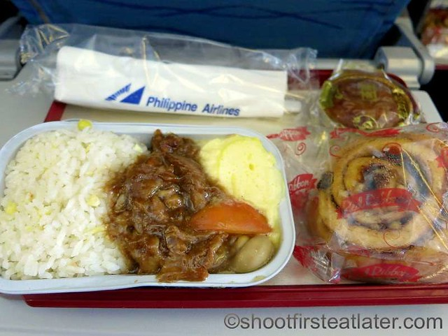 PAL economy breakfast - pork asado