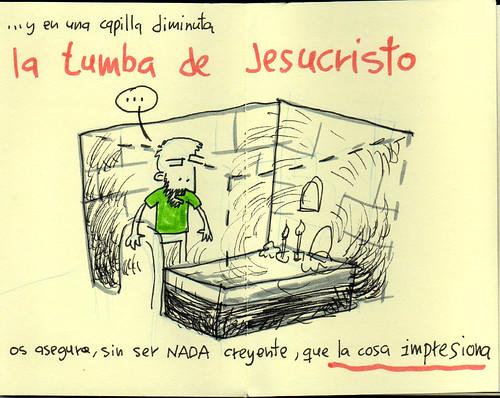 Jesus' tomb. Palestine Sketchbook #15