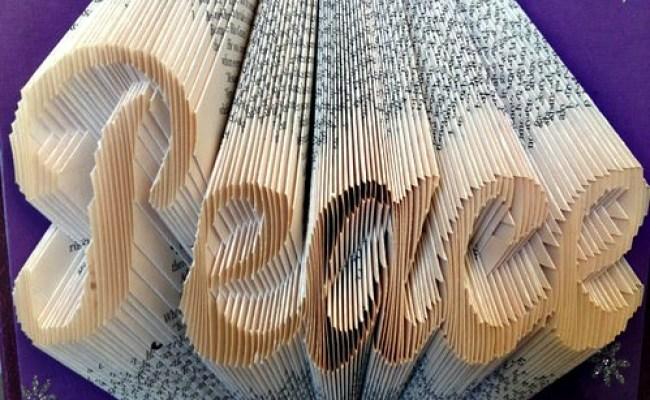 Folded Book Peace