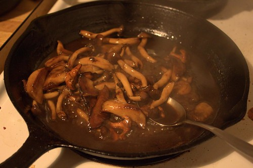 Wild Mushrooms and Sauce