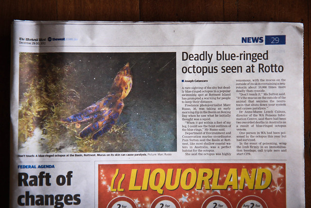 I made todays West Australian News paper. Page 29 :)