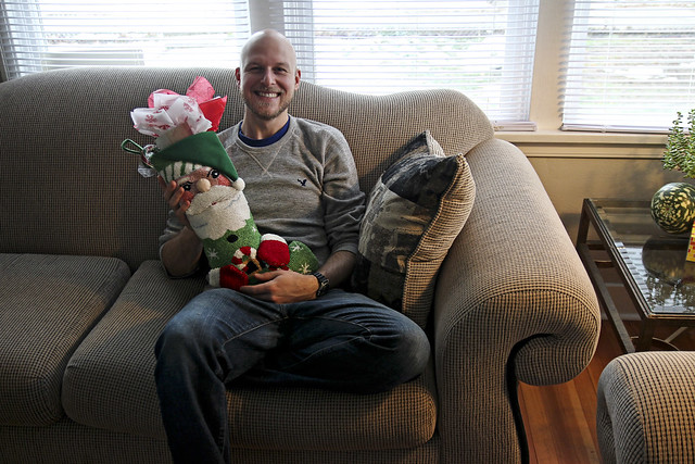 travis and his stocking