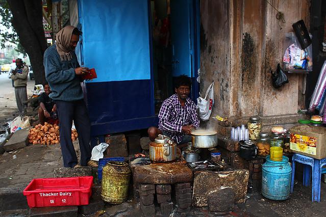 A chai tea vendor
