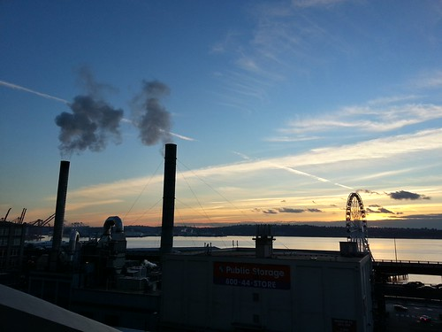 Seattle sunset. by pgsvensk