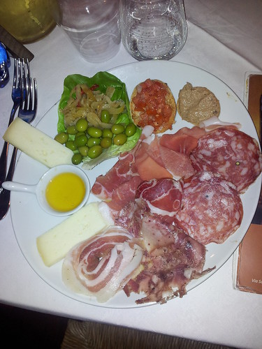 Antipasto della casa, ristorante La Faeta