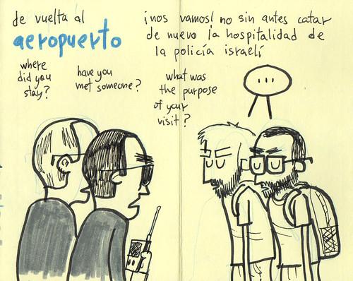 Palestine Sketchbook # Tel Aviv airport