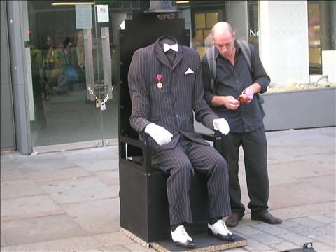 Busker in Covent Garden