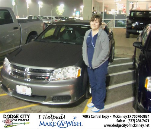 Congratulations to Rosita Solis on the 2013 Dodge Avenger by Dodge City McKinney Texas
