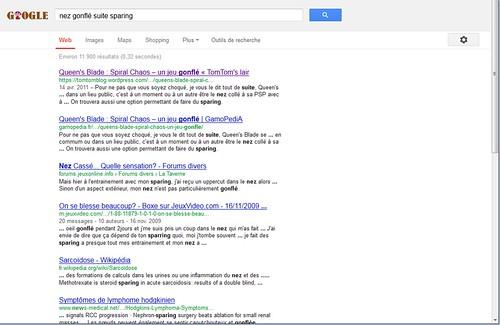 Recherche Google Nez Gonflé Suite Sparing