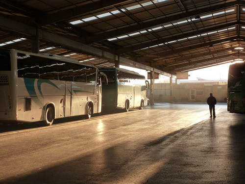 Bus station morning