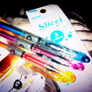 straight from #Japan from my friend Satoko #slicci #pentel #pen #0.38 gotta love it~ #penaddict