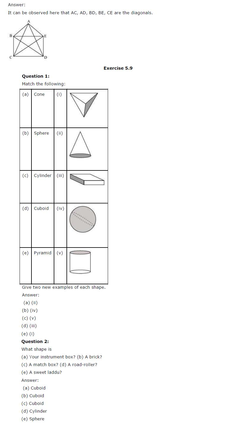 NCERT Solutions For Class 6th Maths Chapter 5