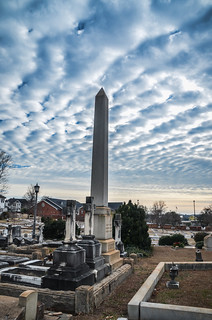 Obelisk and Clouds - Christ Church Episcopal