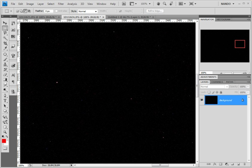 Het gebruik van een dark frame