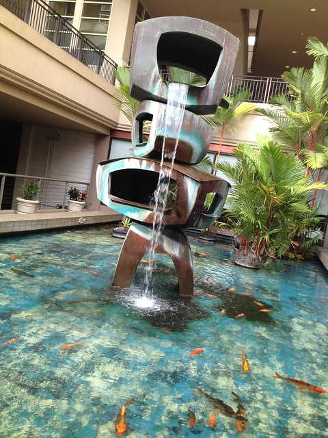 Fountain at the Ala Moana Center