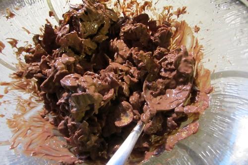 Mit Schokolade überzogene Cornflakes