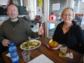 Nick and Jenny tuck in to tapas