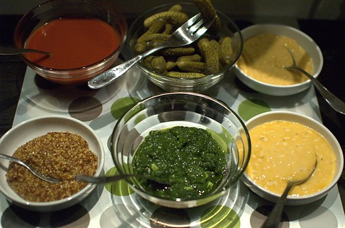 Homemade condiments, pickles