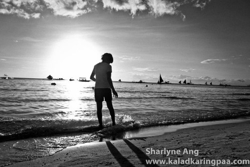 Trying to Skim Board - in Black and White