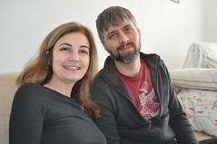 Eva y Matt durante la entrevista
