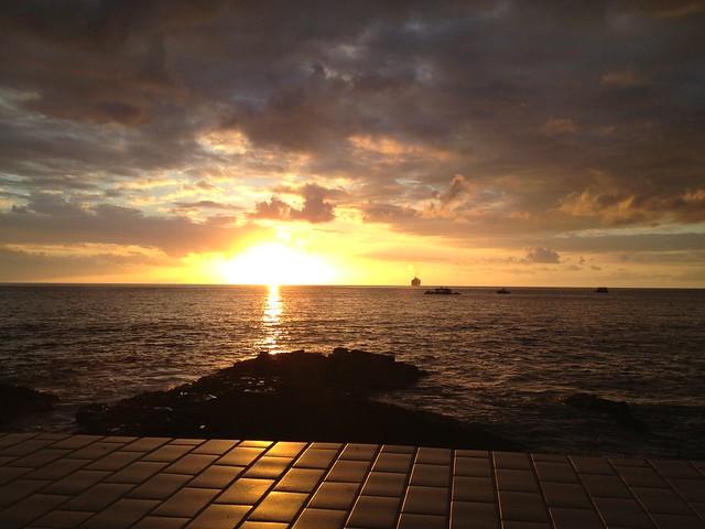 Sunset over Kailua Bay