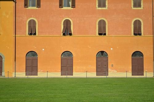 Green Grass, Orange Wall