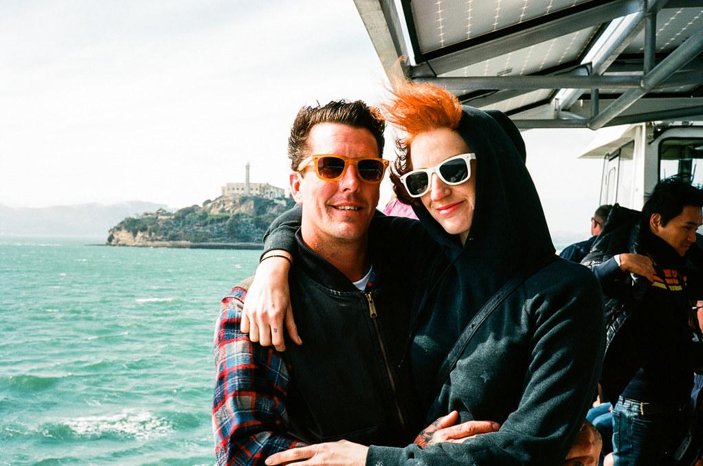 Josh and Liz on the way to Alcatraz