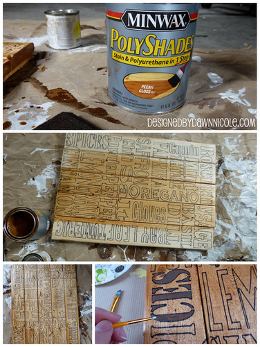 DIY Spices and Herbs Subway Pallet Art