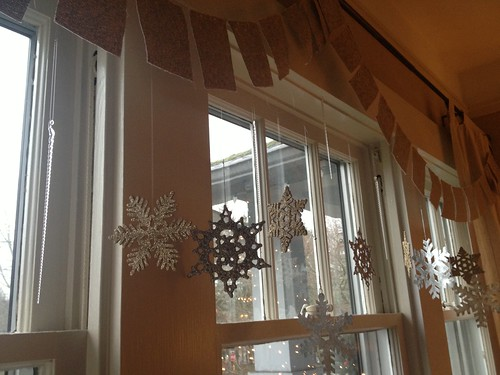 snowflakes in the window by telfandrea